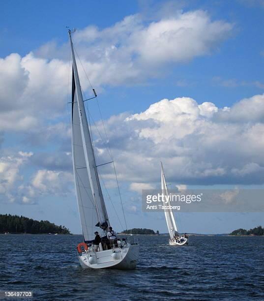 sailing boats - espoo - fotografias e filmes do acervo