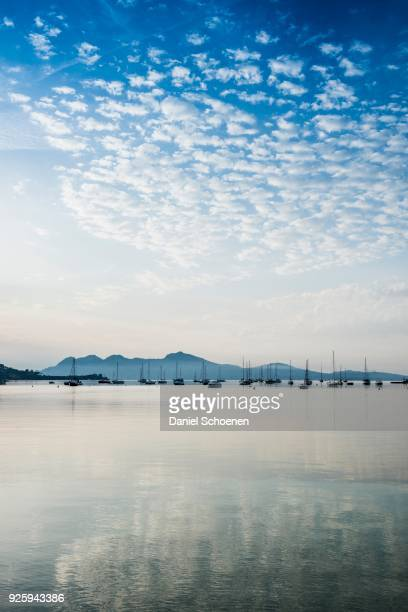 Sailing boats, Puerto de Pollensa, Port de Pollenca, Majorca, Balearic Islands, Mediterranean Sea, Spain