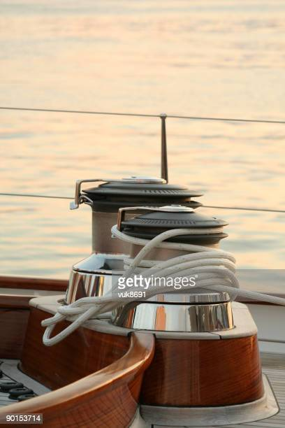 Sailing equipment on the boat deck