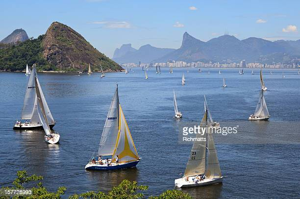 sailing in rio de janeiro - niteroi stock pictures, royalty-free photos & images