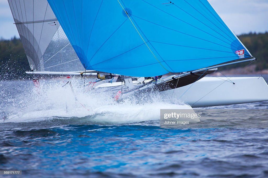 Sailing in the archipelago : Stock Photo