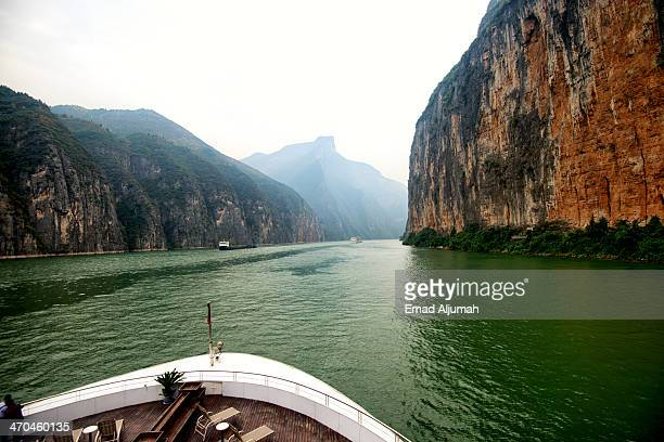 Sailing into the Qutang Gorge of The Three Gorges
