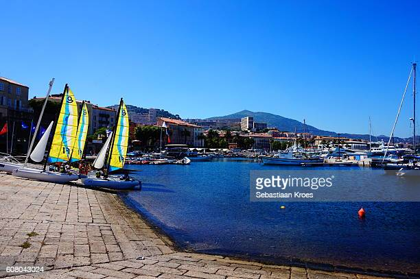 Sailing Lessons, Port of Ajaccio, Corsica, France