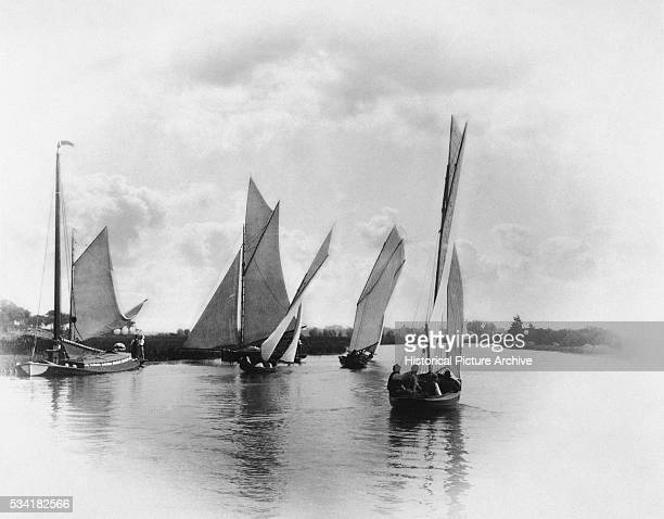 A Sailing Match at Horning by Peter Henry Emerson and Thomas Frederick Goodhall