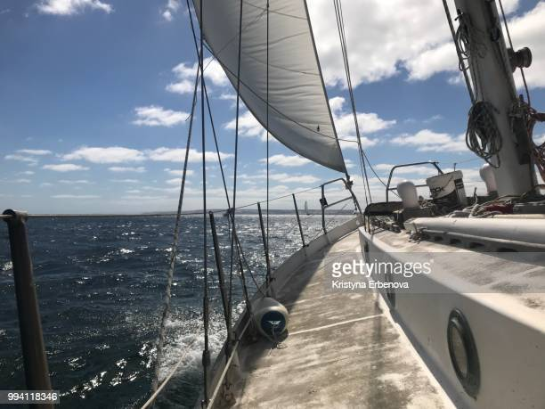 sailing on kangaroo island - yachting stock pictures, royalty-free photos & images