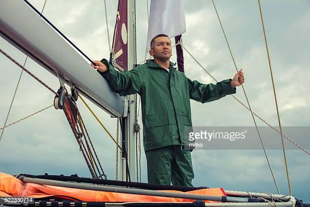 Navigation sur un voilier de plaisance