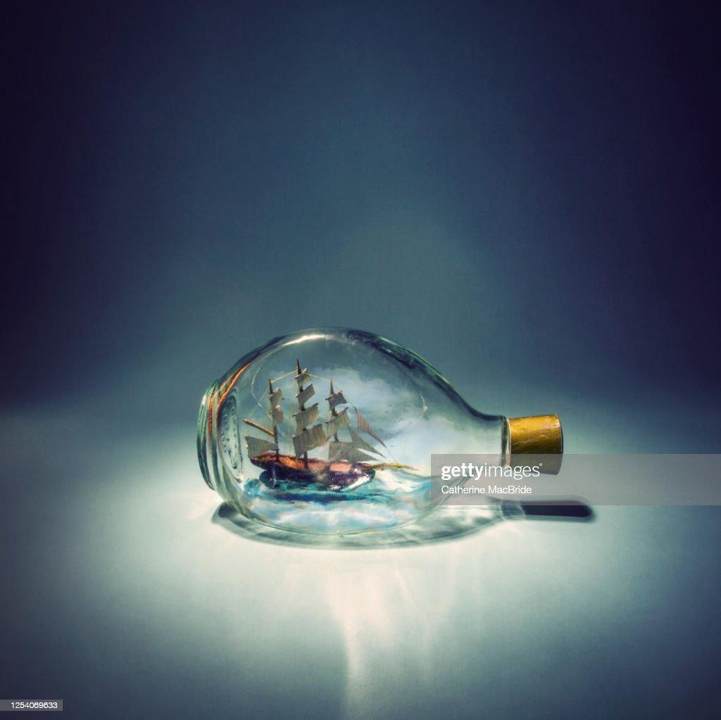 Sailing on Small Seas : Stock Photo