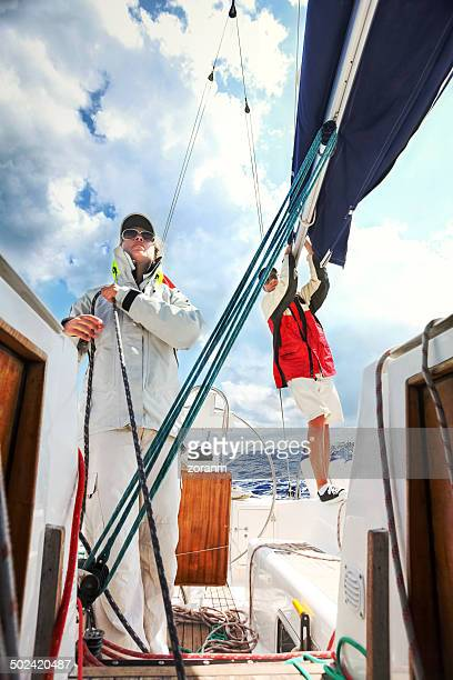 sailing - sailing team stock pictures, royalty-free photos & images