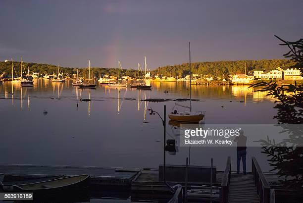 sailing - boothbay harbor stock-fotos und bilder