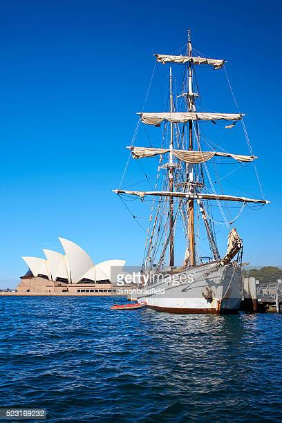 Sailing Ship And The Sydney Opera House