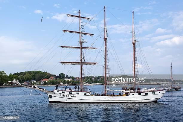 Sailing ship Loth Lorien in the port of Eckernfoerde