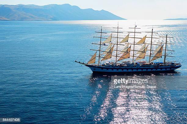 Sailing Ship, on Adriatic Sea, Hvar, Dalmatia, Croatia