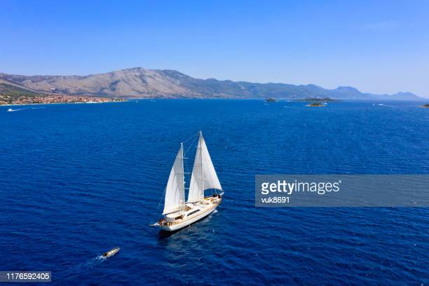 sailing ship - adriatic sea stock pictures, royalty-free photos & images