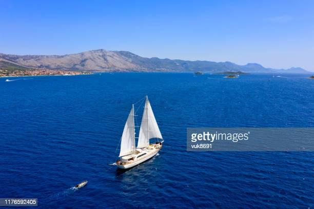 帆船 - アドリア海 ストックフォトと画像