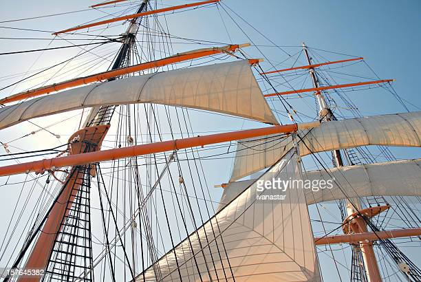 sailing ship - revolutionary war stock photos and pictures