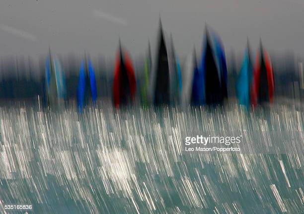 Sailing ships during the 2007 Skandia Cowes Week at Cowes Isle of Wight, England, UK. Cowes Week is the Worlds longest running regatta with 1,000...