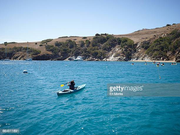 sailing trip to catalina island, ca - emerald bay lake tahoe stock pictures, royalty-free photos & images