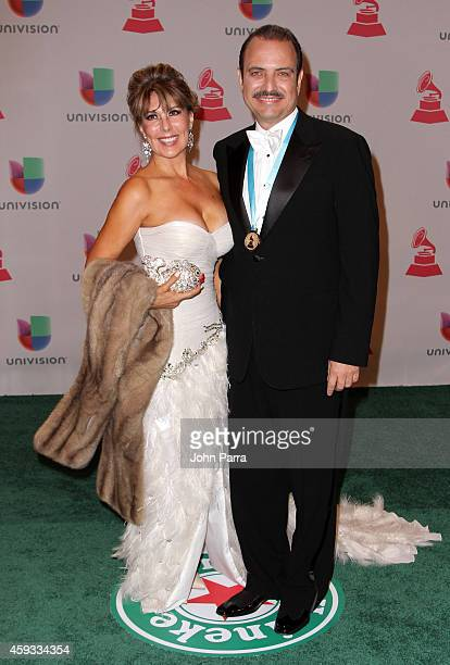 Sailly Hernandez and musician Mario Ortiz attend the 15th annual Latin GRAMMY Awards at the MGM Grand Garden Arena on November 20 2014 in Las Vegas...