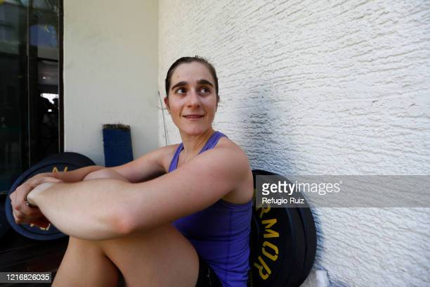 Sailor and Olympic athlete Elena Oetling poses for a photo during a training session at home on June 1 2020 in Guadalajara Mexico Mexico remains on...