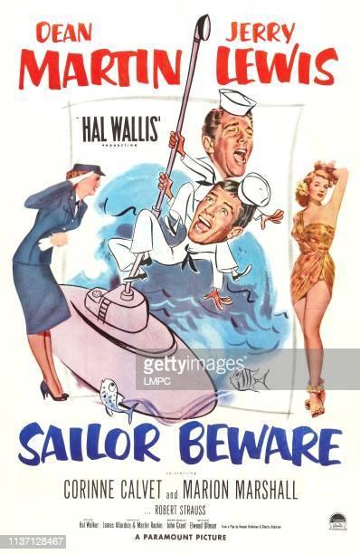 Sailor Beware poster Marion Marshall Dean Martin Jerry Lewis Corinne Calvet 1952