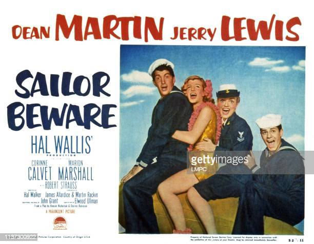 Dean Martin Corinne Calvet Marion Marshall Jerry Lewis 1952