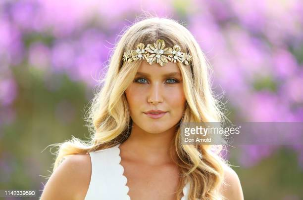 Sailor Brinkley Cook attends The Championships Day 2 at Royal Randwick Racecourse on April 13 2019 in Sydney Australia