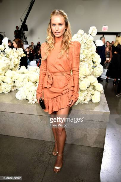 Sailor Brinkley Cook attends the Zimmermann front row during New York Fashion Week The Shows at Gallery I at Spring Studios on September 10 2018 in...