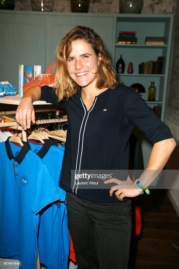 Sailor Clarisse Cremer attends 40th anniversary of TBS and Capsule Collection Presentation at The Hoxton Paris on February 20, 2018 in Paris, France.