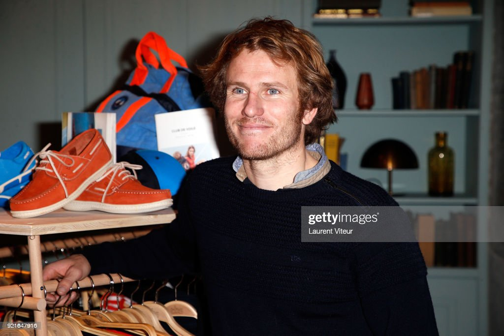 Sailor Franois Gabart attends 40th anniversary of TBS and Capsule Collection Presentation at The Hoxton Paris on February 20, 2018 in Paris, France.