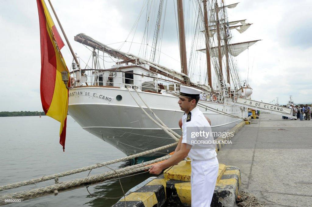A sailor from Spain's sailboat Juan Seba : News Photo