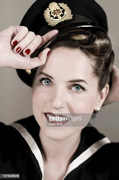 sailor girl - sailor hat stock pictures, royalty-free photos & images