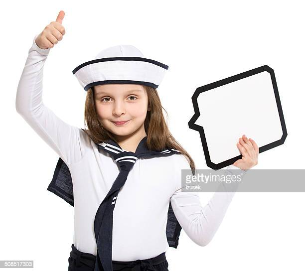 Sailor Girl with Speech Bubble