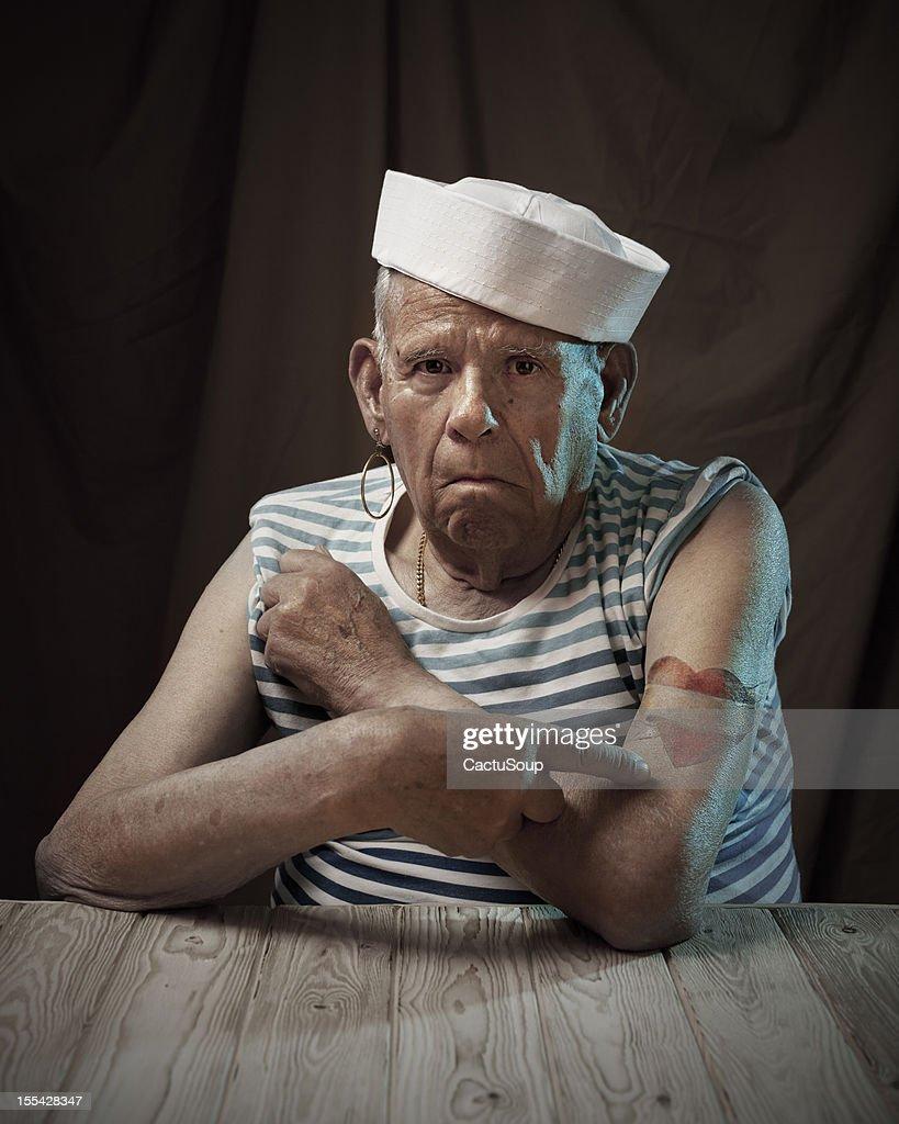 Sailor grandfather : Bildbanksbilder