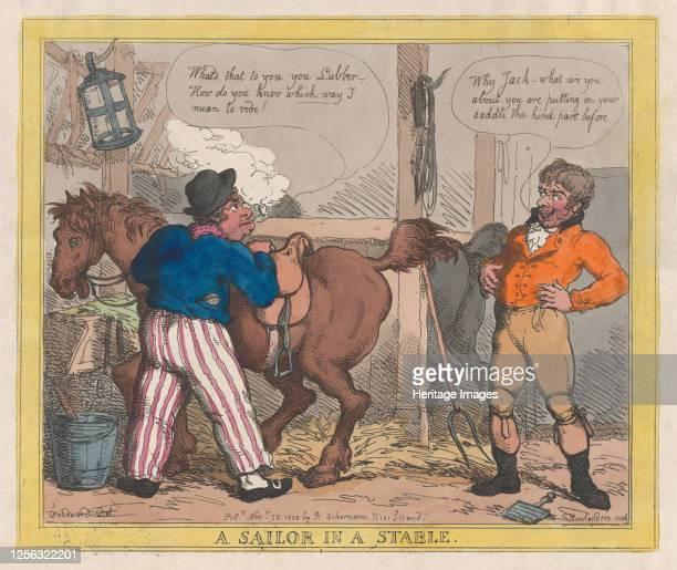 A Sailor in a Stable November 25 1805 Artist Thomas Rowlandson