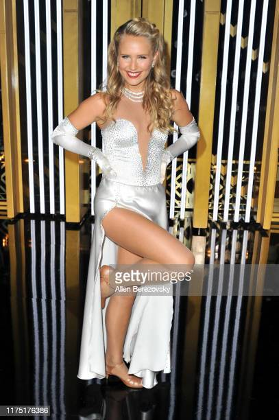 Sailor Lee BrinkleyCook attends the Dancing With The Stars Season 28 show at CBS Television City on September 16 2019 in Los Angeles California