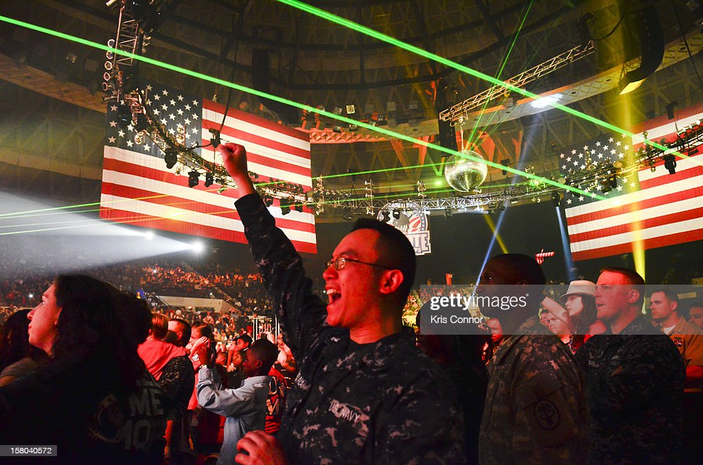 Sailors attend the 10th anniversary of WWE Tribute to the Troops at Norfolk Scope Arena on December 9, 2012 in Norfolk, Virginia.