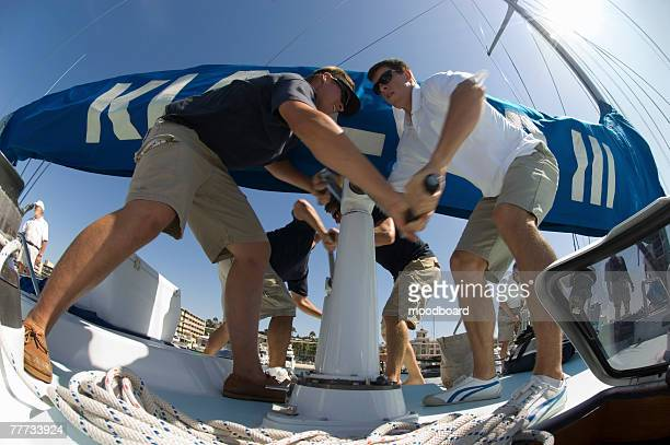 Sailors During Yacht Race