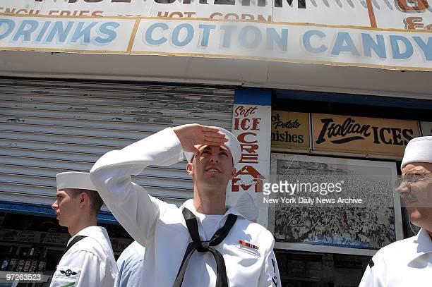 Sailors in Coney Island AT3 Brian Yancey CS2 Thomas Hicks and AOAN Joseph Bruner Original