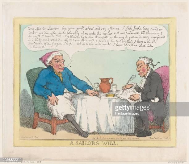A Sailor's Will May 25 1805 Artist Thomas Rowlandson