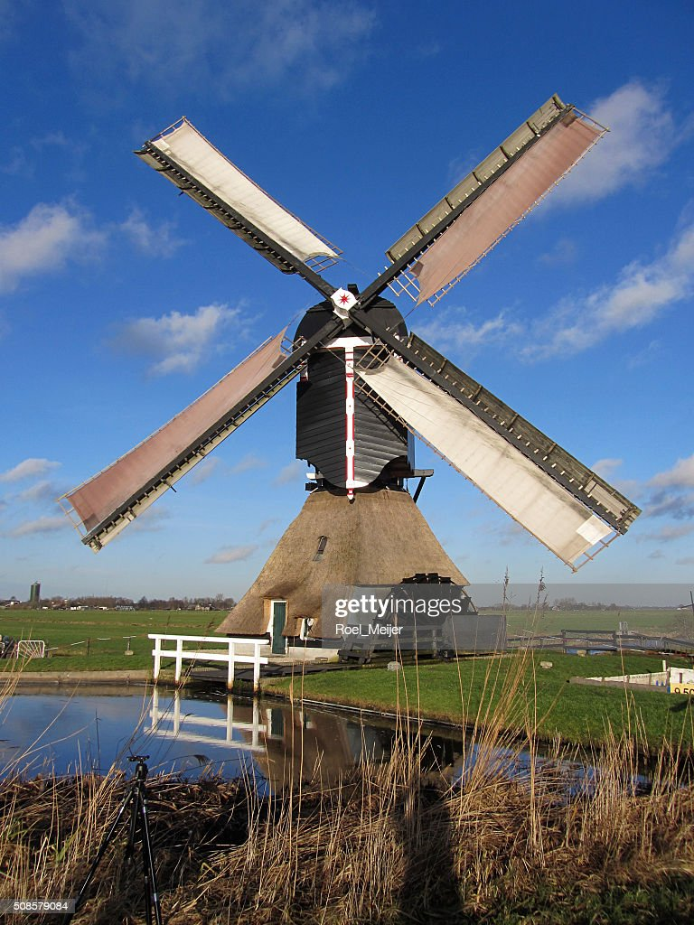 Sails of Dutch windmil : Stockfoto