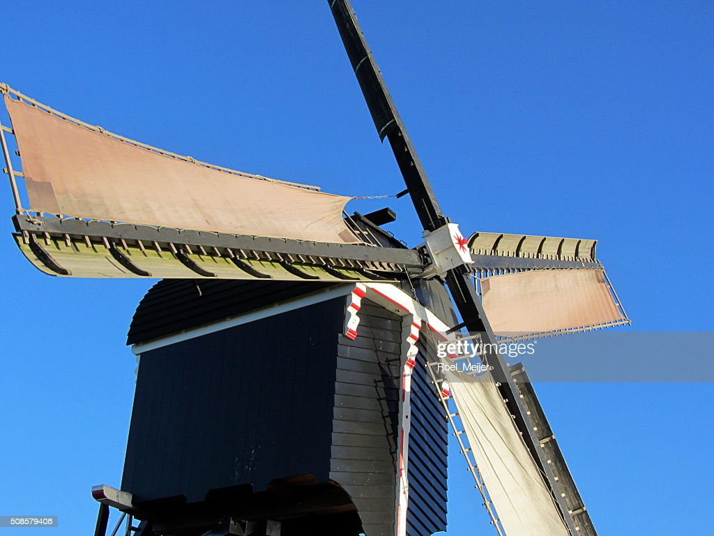 Sails of Dutch windmill : Stock Photo