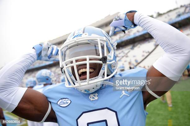 J Sails of the North Carolina Tar Heels during their game against the California Golden Bears at Kenan Stadium on September 2 2017 in Chapel Hill...