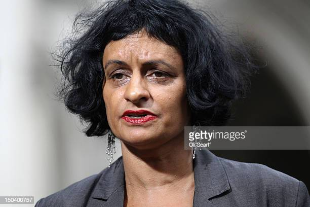 Saimo Chahal, a lawyer representing Tony Nicklinson, addresses the media outside the Royal Courts of Justice following a decision by High Court...