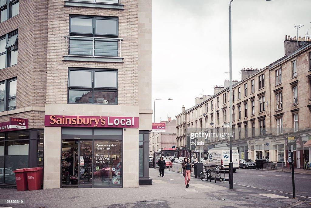 Sainsbury's Local Convenience Store, Glasgow : Stock Photo