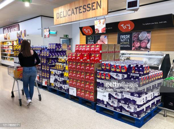 Sainsbury's store displays Easter eggs for sale at discounted prices ahead of the Easter weekend on April 09, 2020 in Wallington, United Kingdom....