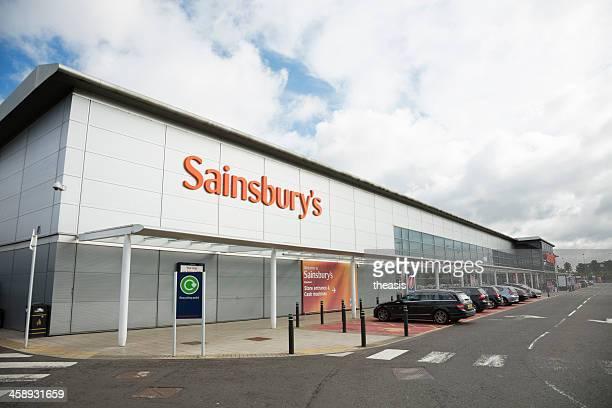 sainsbury's supermarket, glasgow - theasis stockfoto's en -beelden