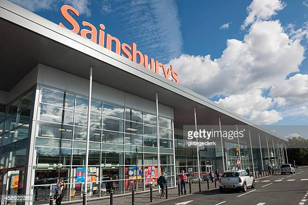 sainsbury's supermarket - high up stock photos and pictures