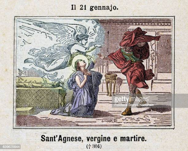 Saint Agnese , Virgin and Martyr was, according to the Latin tradition, a noble maiden of Gens Clodia martyred in Rome at the age of about 12 years,...