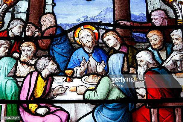 Saint Aignan Church The Last Supper of Jesus with the 12 apostles