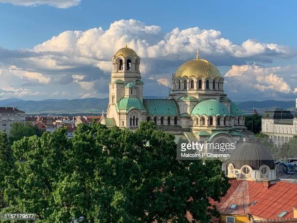 saint aleksandar nevski cathedral, sofia, bulgaria - bulgarije stockfoto's en -beelden